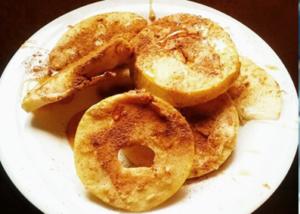 Roscos de manzana con miel